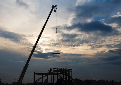 Early morning on site 2 