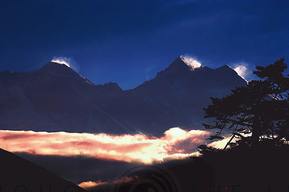 Everest sunset - at 15000ft 