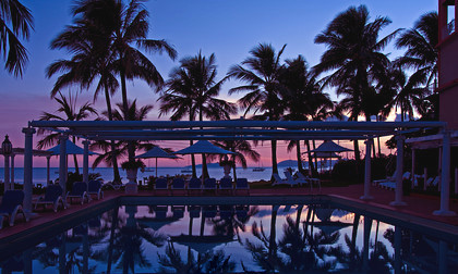 pool and palms, Coral Sea Resort copy