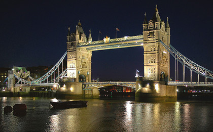The City of London at night - Tower Bridge