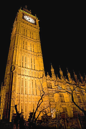 The City of London at night - Big Ben Clock Tower